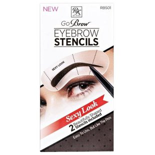 Трафареты для бровей Ruby Kisses Go Brow Eyebrow Stencils Sexy Look