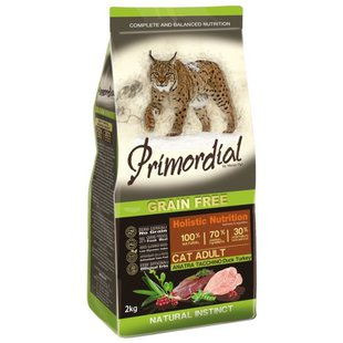 Корм для кошек Primordial Grain Free Cat Adult Duck Turkey