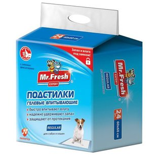 Пеленки для собак впитывающие Mr. Fresh Regular F502 60х60 см