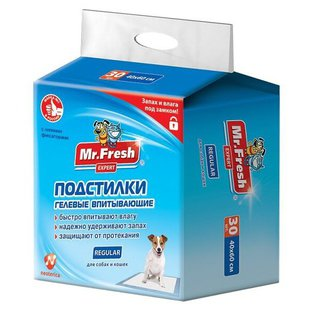 Пеленки для собак впитывающие Mr. Fresh Regular F501 60х40 см